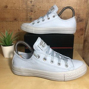 Converse Baby Blue Leather All Star ⭐️ Sneakers 6